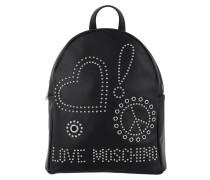 Backpack Metallic Nero Rucksack