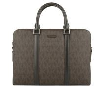 Jet Set Mens Double Zip Briefcase Brown Herrentasche braun