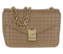 Umhängetasche C Bag Medium Quilted Calfskin Light Camel