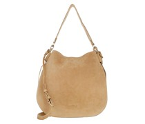 Hobo Bag Borsa Camoscio Vitello Camel