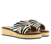 Sandalen - Low Wedge Tabea Pony White