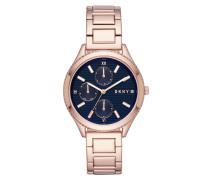 Woodhaven Watch Rosegold Armbanduhr blau