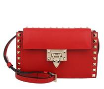 Umhängetasche Rockstud Crossbody Bag Leather Red