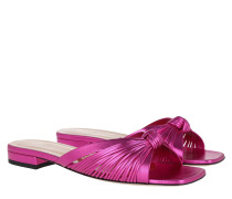 Schuhe Metallic Slide Leather Fuchsia