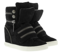 Sneakers - Molly Wedge Sneaker Suede Black