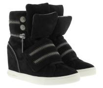 Molly Wedge Sneaker Suede Black