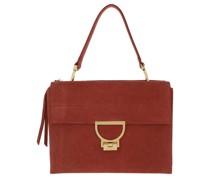 Satchel Bag Arlettis Crossbody Leather Foliage Red