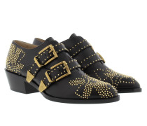 Susanna Booties Low Nappa Black & Gold Schuhe