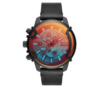 Uhr Griffed Chronograph Leather Watch Black