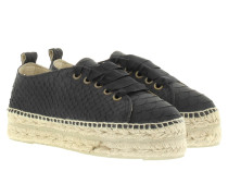 Espadrilles - Amazonia SNK Embossed Leather Espadrilles Black Python