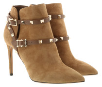 Rockstud Ankle Boots With Strap Camel Schuhe