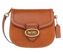 Crossbody Bags Mixed Leather Kat Saddle Bag 20
