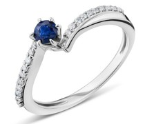 Ring 18KT Diamond and Sapphire
