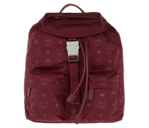 Dieter Monogram Nylon Backpack Small Ruby Tan Rucksack