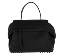 Wave Bag Tumbled Small Black Satchel