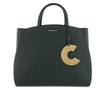 Tote Concrete Handle Bag Leather Mallard Green