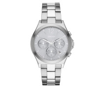 Parsons Round Watch Silver Armbanduhr silber