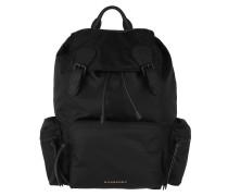 Logo Plaque Backpack Black Rucksack