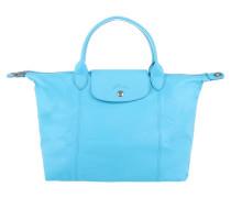 Tasche - Le Pliage Cuir Classic Medium Bleuette