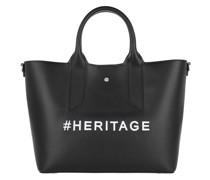 Tote Medium Handbag Black/ Op Natural