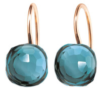 Ohrringe Earrings Happy Holi Topas London Blue Cabochon Rosegold