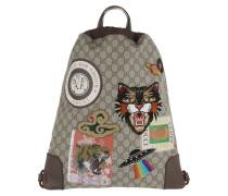 Courrier Soft GG Supreme Drawstring Backpack Beige/Ebony Beuteltasche braun