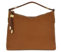 Skorpios Top Zip Shoulder Luggage Hobo Bag braun