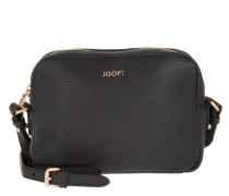Cloe Nature Grain Shoulder Bag Small Black Umhängetasche