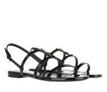 Sandalen & Sandaletten Cassandra Flat Sandals Patent Leather
