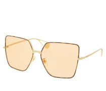 Sonnenbrille GG0436S-003 61 Sunglass WOMAN METAL GOLD