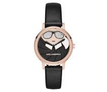 Camille Karl Appliqué Watch Black Armbanduhr