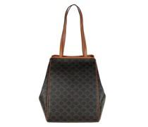 Tote Medium Handle Bag Leather Tan
