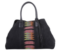 Tasche - Chelsea Tote Embroidery/Suede Leather Black