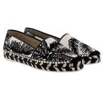 Palm Embroidery Espandrilles White/Black Espadrilles weiß