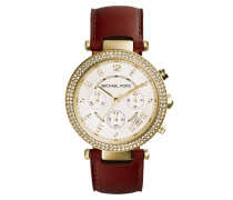 Armbanduhr - Parker Ladies Leather Watch Brown
