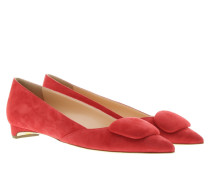 Ballerinas - Aga Flat Pointy Pumps Rouge Suede