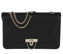 Demilune Chain Smooth Calf Shoulder Bag Nero