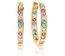 Ohrringe Corte Earrings Multicoloured Zirconia 18K Gold Plated