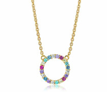 Halskette Biella Grande Necklace Multicoloured Zirconia 18K Gold Plated
