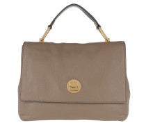 Liya Handle Bag 2 Taupe/Noir Satchel