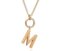 Armband Oversized Alphabet M Pendant Necklace Yellow Gold