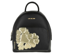 Backpack Metallic Heart Oro Rucksack