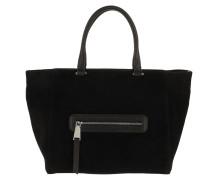 Tote Suede Handle Shopper Black/Nickel