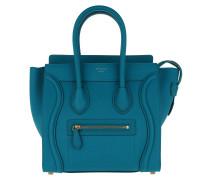 Micro Luggage Tote Teal Blue