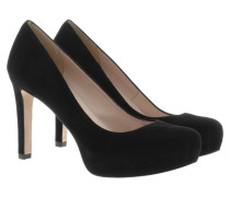 Pumps - Suede Platform Heels Black