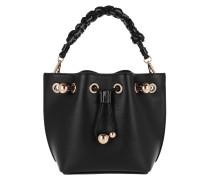 Long Strap Drawstring Bag Mini Black