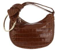 Satchel Bag Petit Luna Calfskin Brown