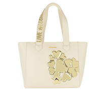 Shopping Bag Metallic Heart Oro/