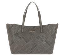 Borsa Embossed Pu Shopping Bag Grigio