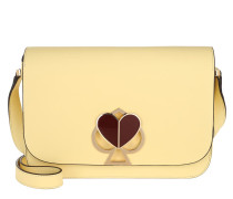 Umhängetasche Nicola Twistlock Medium Flap Shoulder Bag Butter